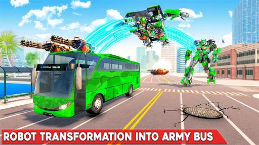 Army Bus Robot Transform Wars u2013 Air jet robot game 3.3 screenshots 1