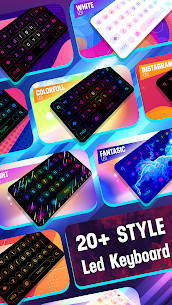 Neon LED Keyboard – RGB Lighting Colors 1