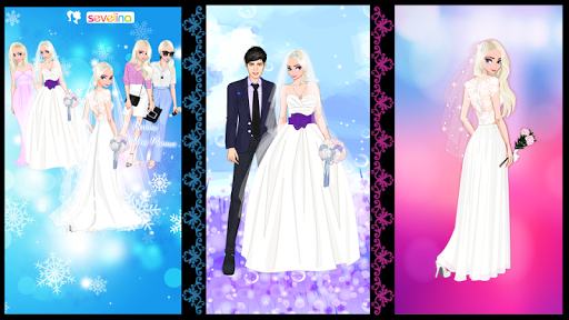 u2744 Icy Wedding u2744 Winter frozen Bride dress up game 1.0.0 screenshots 1