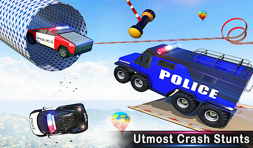 Police Car Racing Stunts 3D : Mega Ramp Car Games 3.8 screenshots 18