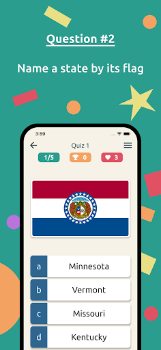 US States & Presidents Quiz – USA History Trivia apktreat screenshots 2