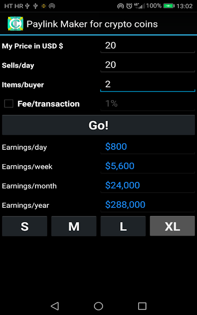 PayLink Maker for crypto currency coins screenshot 13