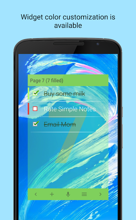 Simple Notes Widget  poster 3