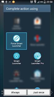 Default choice fixer for Smart Launcher