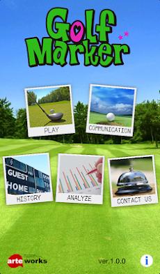 Golf Marker ゴルフスコアカード 通信機能付き!のおすすめ画像1