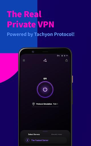 Tachyon VPN - Private Free Proxy  Screenshots 1