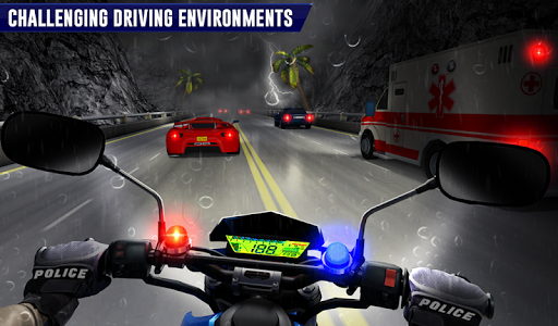 Police Moto Bike Highway Rider Traffic Racing Game  Screenshots 16