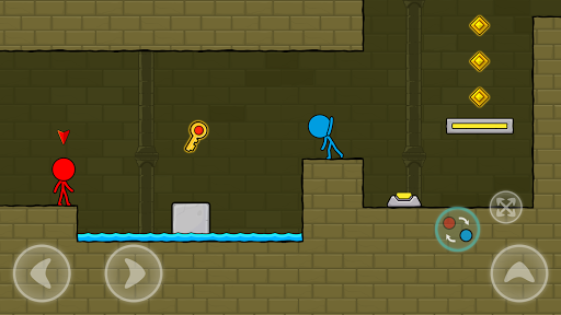 Red and Blue Stickman : Animation Parkour 1.0.6 screenshots 2