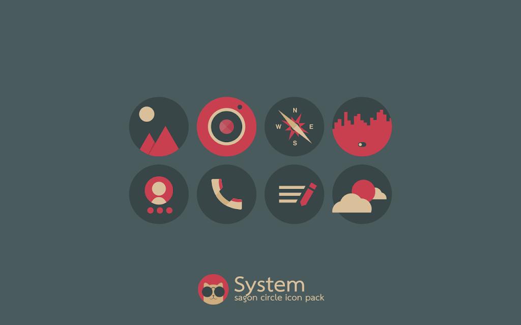 Sagon Circle Icon Pack: Dark UI  poster 3