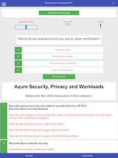 Azure Fundamentals AZ-900 Practice Exams - Quizzes Screenshot