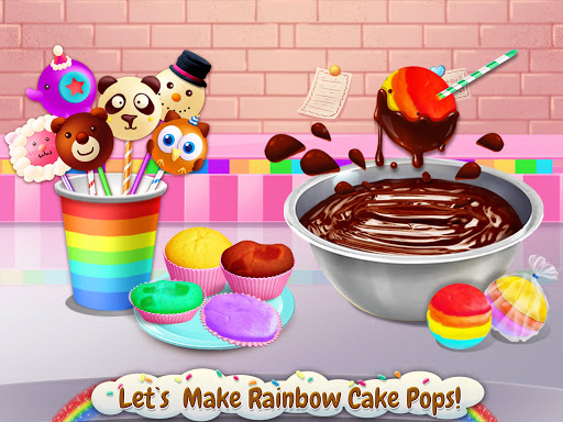rainbow desserts bakery party screenshot 2