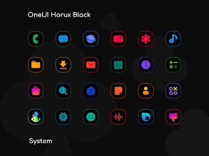 OneUI Horux Black APK- Icon Pack (PAID) Download Latest 7