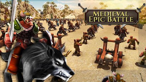 Medieval Epic Battle Simulator – War Strategy Game apkmartins screenshots 1