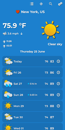 Weather Forecast 2.0.3 Screenshots 1