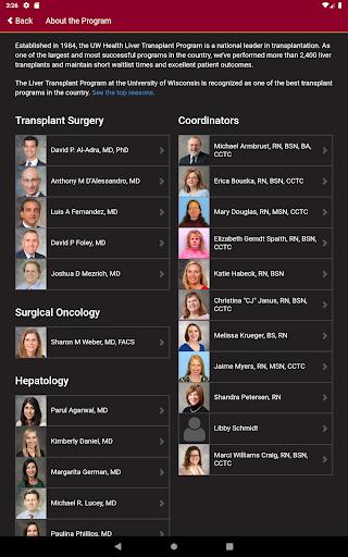UW Liver Transplant 1.0 Screenshots 5