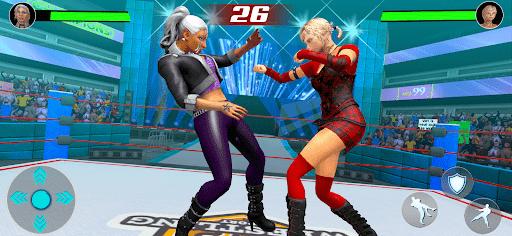 Bad Girls Fighting Games: Gym Women Wrestling Game apkmartins screenshots 1