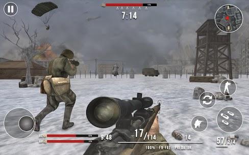 World War 2 Winter Heroes Mod Apk (Dumb Enemy/God Mode) 2