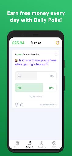 Eureka: Earn money, free $1 for your first survey!  Screenshots 4