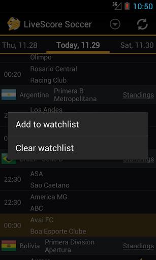 LiveScore Football  screenshots 5