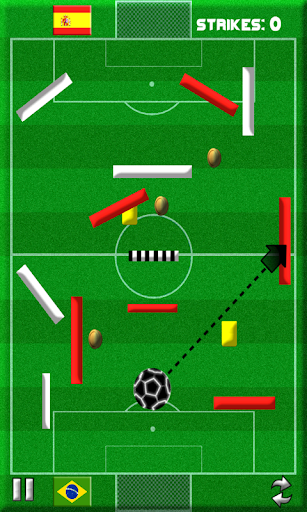 strike the goal -soccer themed physics puzzle game screenshot 3