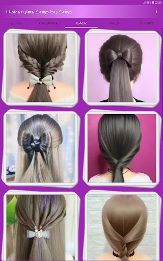 Hairstyles Step by Step Videos (Offline) 1.6.1 Screenshots 3