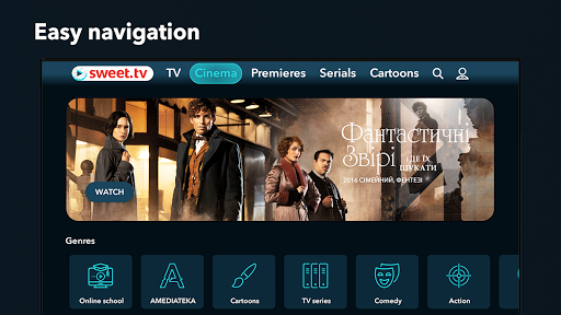 SWEET.TV - TV online for TV and TV-boxes screenshots 5