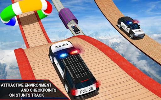 Police Spooky Jeep Stunt Game: Mega Ramp 3D apkpoly screenshots 5