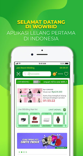 WOWBID - Marketplace Jual Beli Lelang No.1 2.7.0 Screenshots 1