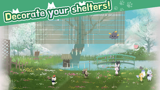 Cat Shelter and Animal Friends: Idle Relaxing Game  screenshots 5