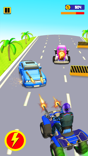 Quad Bike Traffic Shooting Games 2020: Bike Games 3.1 screenshots 2