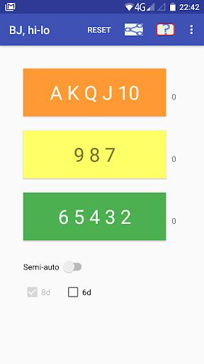 Cards counter,  BlackJack screenshots 1