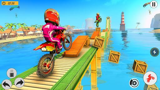 Beach Bike Stunts Game: Crazy Bike Stunts on Ramps apkmr screenshots 2