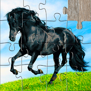 Horse Jigsaw Puzzles Game - For Kids & Adults 🐴  Icon