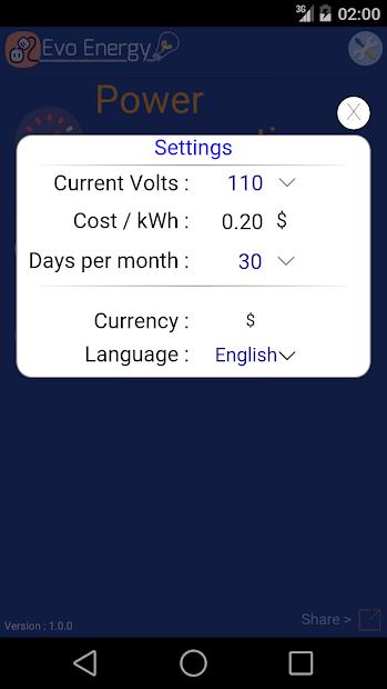 Screenshot 12 de EvoEnergy - Electricity Cost Calculator Free para android