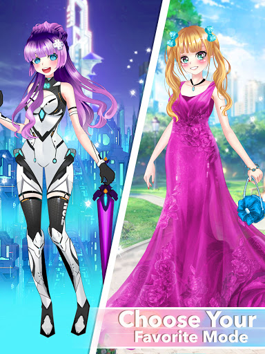 Anime Dress Up Queen Game for girls 0.1 screenshots 17