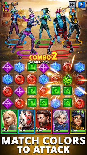 Puzzle Combat: Match-3 RPG android2mod screenshots 3