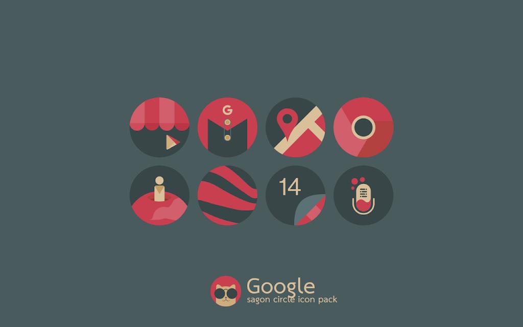 Sagon Circle Icon Pack: Dark UI  poster 2