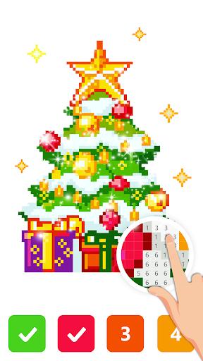 Pix123 - Color by Number, Pixel Art Relaxing Paint 2.4.8 screenshots 2