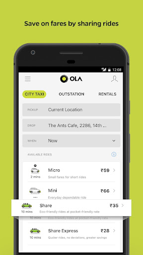 Ola Lite: Lighter Faster Ola App. Book Taxi & Cabs  Screenshots 2