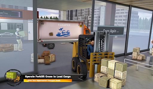 Supermarket Cargo Transport Truck Driving Sim 2019  screenshots 12