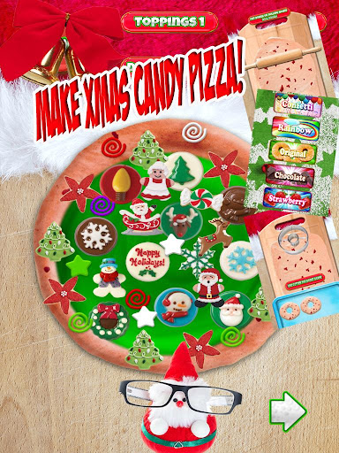 Christmas Candy Pizza Maker Fun Food Cooking Game  screenshots 6