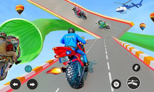 Police Moto Bike Racing Game Mega Ramp Stunts Game 3.9.5 screenshots 1
