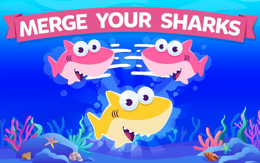Merge Shark: Cute Fun Evolution Tap Doo  screenshots 1