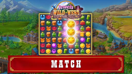 Jewels of the Wild Westu30fbMatch 3 Gems. Puzzle game apktram screenshots 8