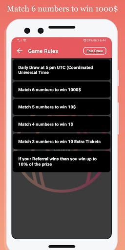 Daily Lottery 1.0.0 4