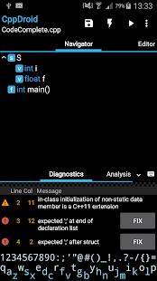 CppDroid - C/C++ IDE 3.3.3 Screenshots 3