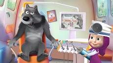 マーシャとくま: 歯科手術と歯医者ゲーム無料のおすすめ画像1