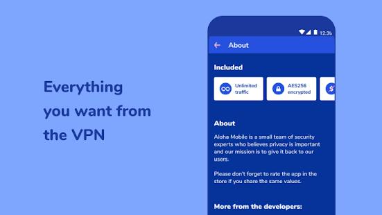 Aloha VPN - unblock sites, encrypt WiFi hot spot
