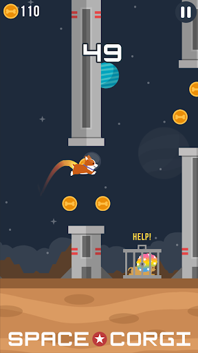 Space Corgi - Dog jumping space travel game 31 screenshots 3