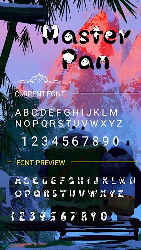 master pan font for flipfont ,cool fonts text free screenshot 3